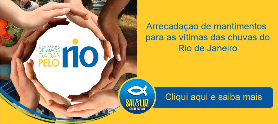 Doações para desabrigados no Rio de Janeiro